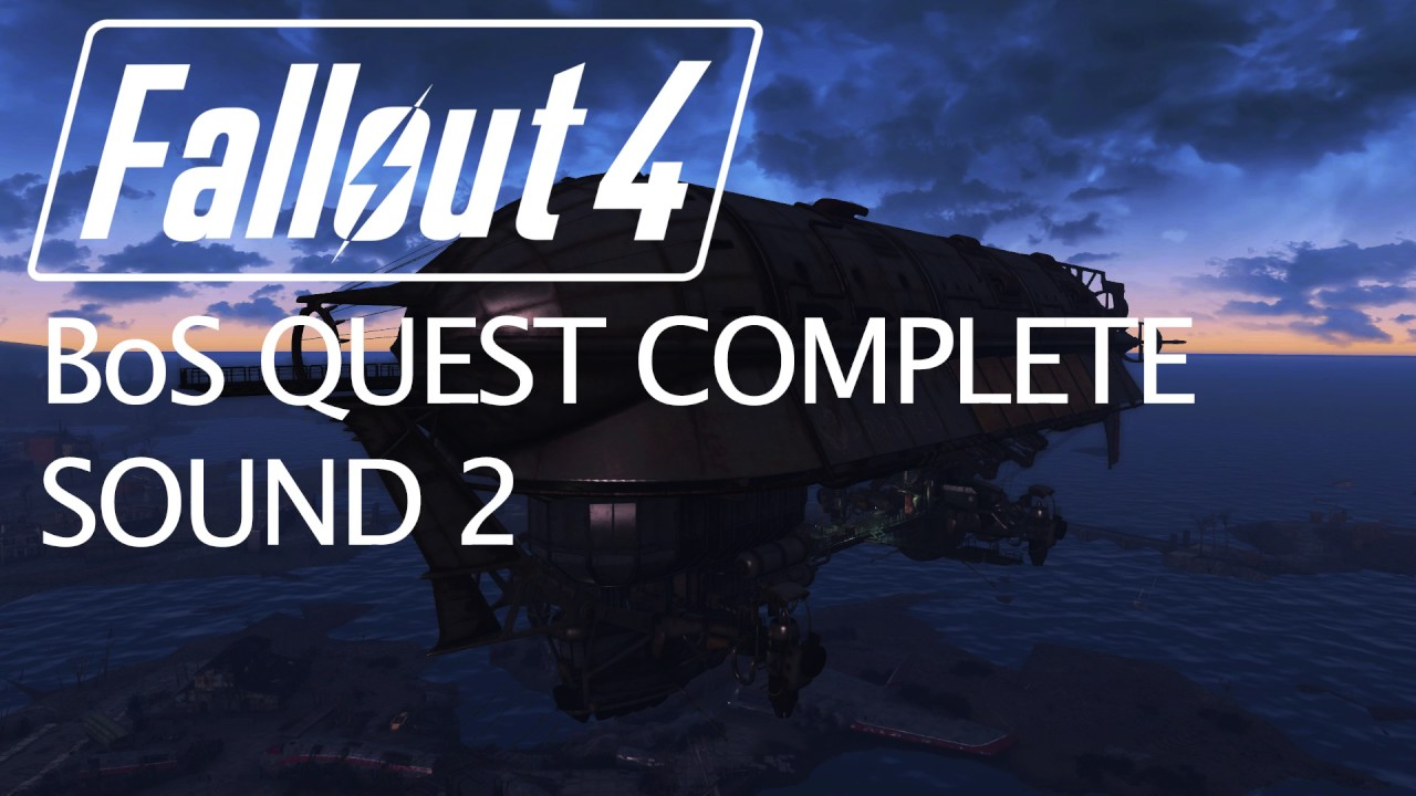 Fallout 4 - Brotherhood of Steel Quest Complete Sound 2