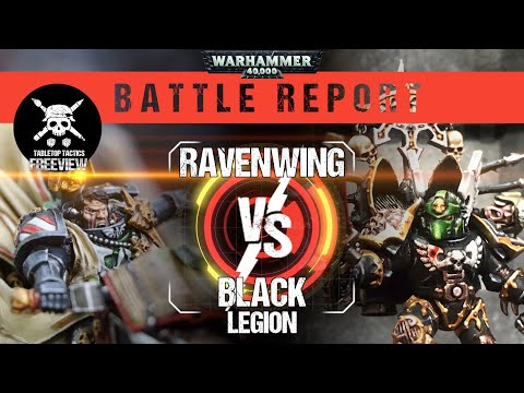 Warhammer 40,000 Battle Report: Black Legion Vs Dark Angels 2000pts