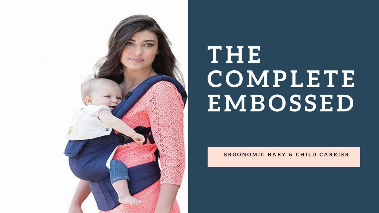 LILLEbaby COMPLETE Embossed Luxe SIX-Position 360° Ergonomic Baby Carrier PINK