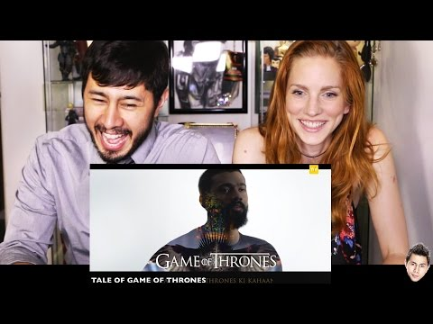TVF GAME OF THRONES - Hindi Theme Song   Reaction   Jaby & Bre!