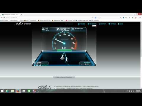 Charter 100Mbps Speedtest
