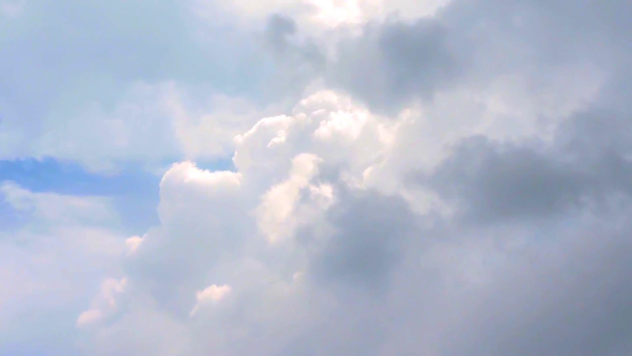 Clouds Sky over the Ocean - Royalty Free HD Video Stock Footage