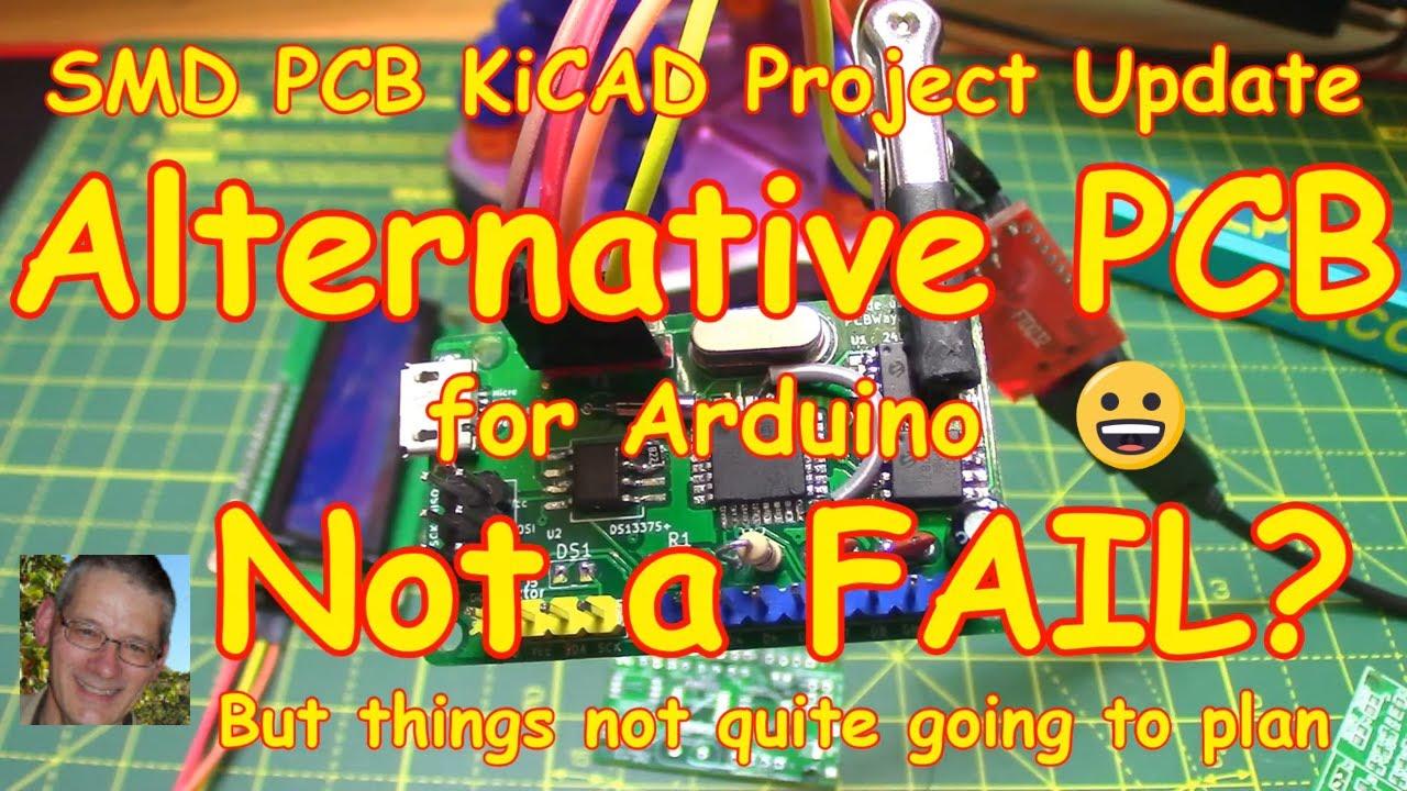 #150 SMD KiCAD Arduino PCB Project (Spoiler: 😭=FAIL)