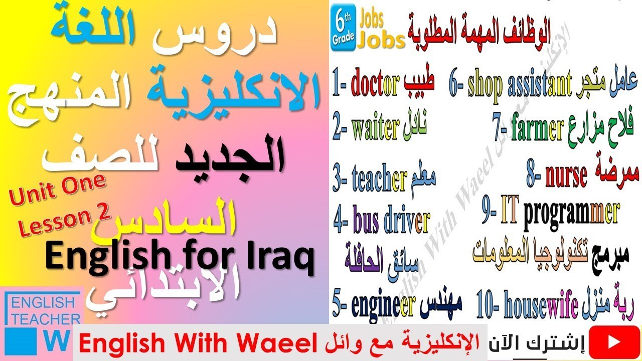 English For Iraq 6th Primary Unit 1 Lesson 2 Pupil S Book Pages 8 9 Youtube