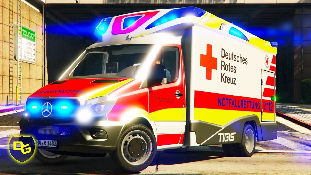 « BESTER Rettungswagen! » - GTA 5 Rescue Mod V - Deutsch - Grand Theft Auto 5