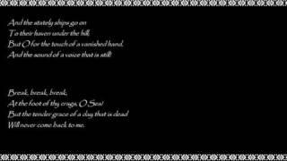Alfred Lord  Tennyson - Break, Break, Break