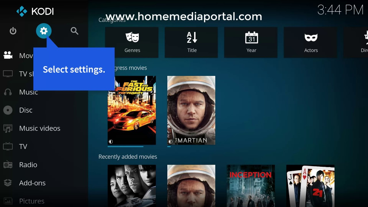 Enable DLNA Kodi - Kodi Media Server Setup