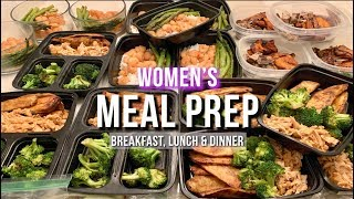 Women' s Meal Prep - Step by Step Instructions with Groceries and Meal Breakdown
