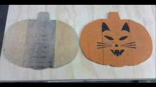 How To Make A Pumpkin For Fall Or Halloween Decoration Out Of Pallet Wood