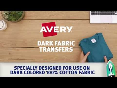 Customize Your Gear with Avery® Dark Fabric Transfers
