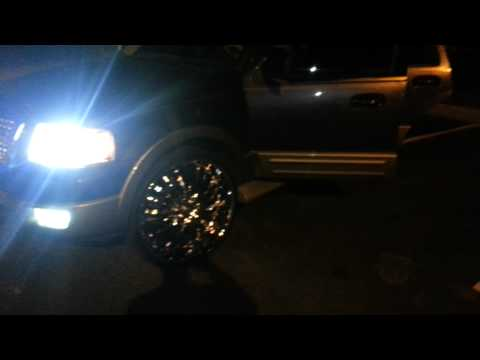 Ford Expedition on 28's three tv's train horn HIDs