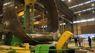 Огромный станок для вальцовки листового металла A ...