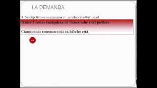 Microeconomía - vídeo 1