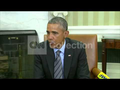 OBAMA MEETS WITH EUROPEAN COUNCIL PRESIDENT