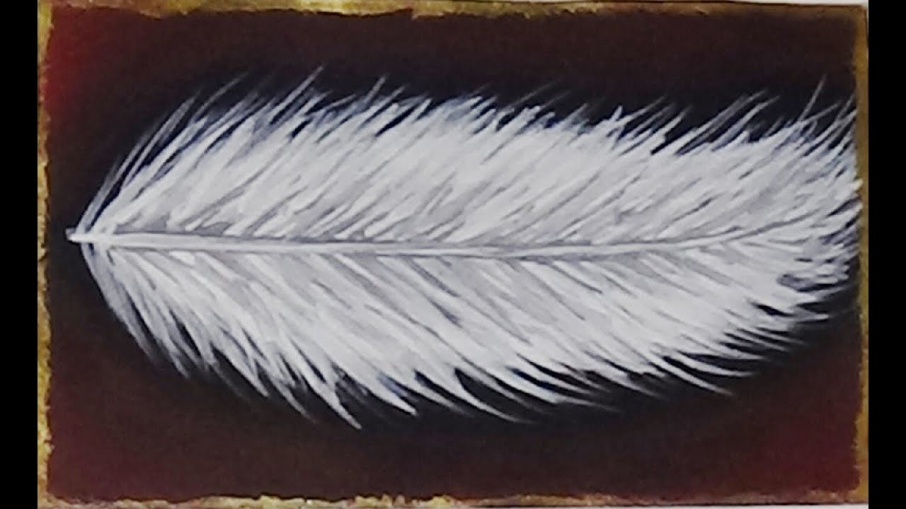 Mini acrylic painting feather youtube for Painting feathers on canvas