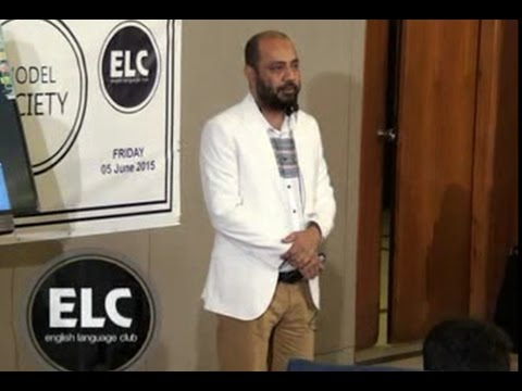 Topic: Model Society , Speaker: Kashif Mehmood ELC Sialkot,Pakistan