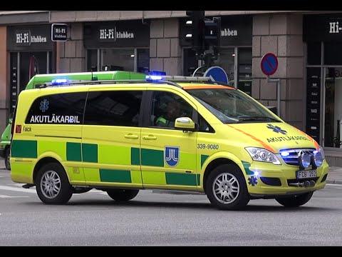 Ambulans + Akutläkarbil Räddningstjänst Stockholm