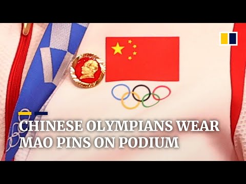 Mao badges worn by Chinese medallists on Olympic podium prompt investigation at Tokyo Games