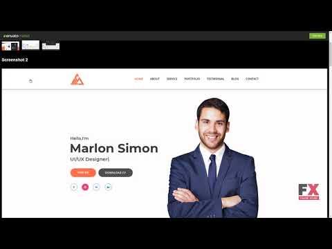 Simon Personal Portfolio Landing Page PSD Template Homer Tas YouTube - Personal landing page template