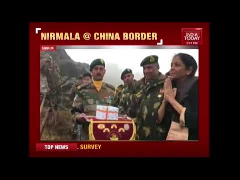 Defense Minister Nirmala Sitharaman Acknowledges Greetings From Chinese Soldiers