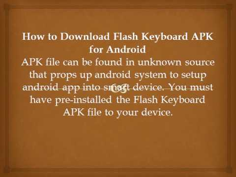 Easy Way To Download Flash Keyboard APK For Android