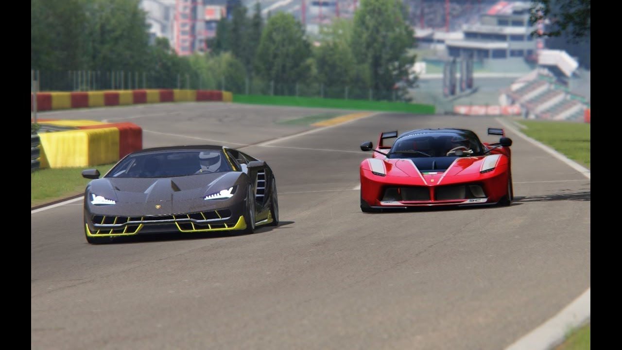 Battle Lamborgini Centenario x Ferarri FXX-K Racing at Spa Francorchamps