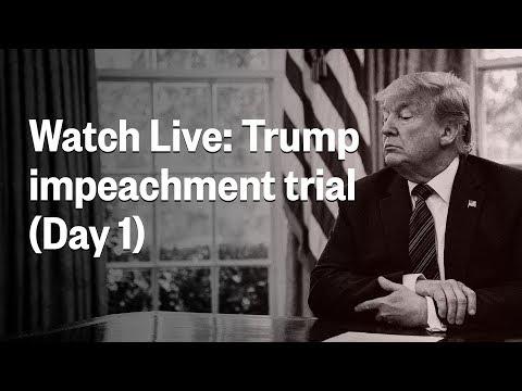 Senate Impeachment Trial Of President Trump | Day 1 | NBC News (Live Stream Recording)