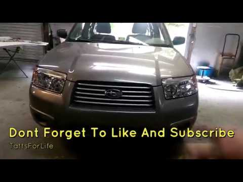 Subaru Forester Headlight Removal And Replacement How To