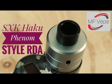 SXK Haku Phenom Style RDA - Review & wicking