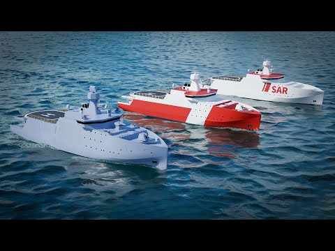 Future-proof and flexible Multifunction Offshore Patrol Vessel.