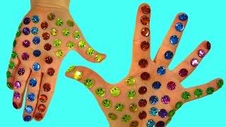 Развивающее видео Для детей Учим цвета Клеим Смайлики Поем песенку Семья пальчиков На русском