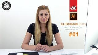 Adobe Illustrator CC Dersleri | #01 | Yeni Döküman ve Temel Kısa Yollar