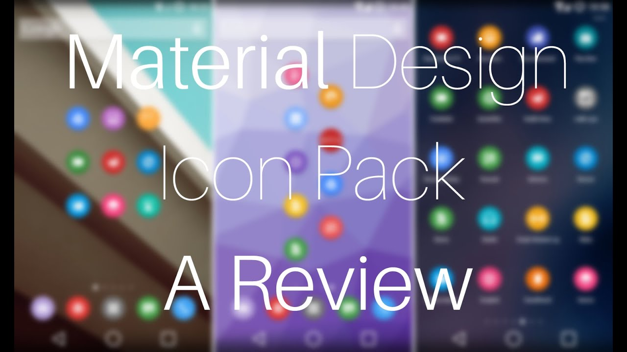 Material Design Icon Pack For Windows 7/8/8 1/10