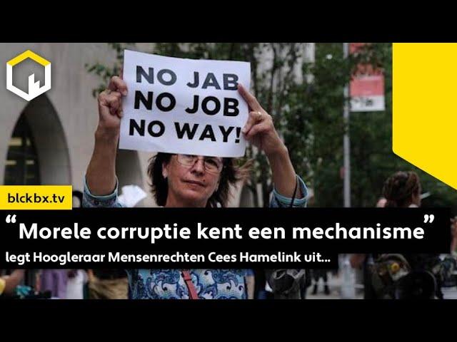 """""""Morele corruptie kent een mechanisme"""" legt Hoogleraar Mensenrechten Cees Hamelink uit..."""