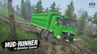 MudRunner - Thử Lái Xe Tải HOWO 4 Chân Leo Đường Núi Quanh Co screenshot 4