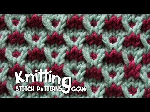 How Many Stitches Per Minute Knitting : Slip-stitch Crosses Stitch - YouTube