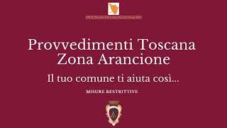 Toscana zona arancione servizi comunali