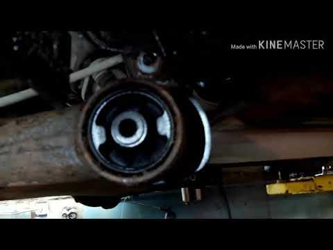 Замена сайлентблоков задней балки Тойота Королла 120