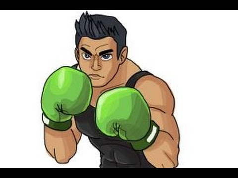 How to draw Little Mac from Super Smash Bros - YouTube