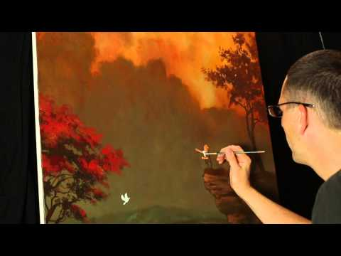 The Last Flight Into The Sky - A time lapse original painting by Tim Gagnon