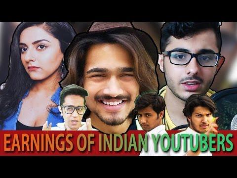 Indian Youtubers Earnings FT.carryminati,bb Ki Vines,your Guy Hooder,pardesi Girl,AIB,TVF