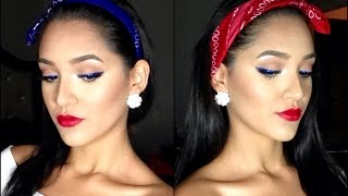 Sparkling Pinup Tutorial 🇺🇸 4th of July Makeup