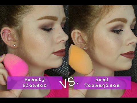 Beauty Blender vs. Real Techniques Sponge   Comparison + Wear Test