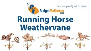 Budgetmailboxes.com | Good Directions 952p Smithsonian Running Horse Weathervane - Polished Copper