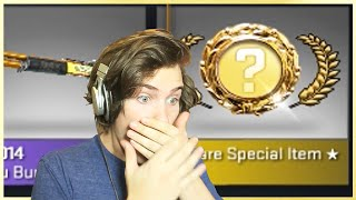 Popular unboxing video created by maxmoefoegames: 1 GOLD, 1 RED, 3 PINKS - Golden Revolver Revolution (Dumb Luck) - CS:GO Case Opening