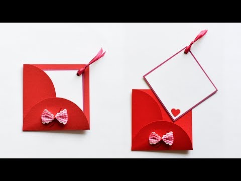 How to make : Greeting Card with Envelope | Kartka Okolicznościowa z Kopertą - Mishellka #236 DIY