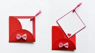 How to make : Greeting Card with Envelope | Kartka Okolicznościowa z Kopertą - Mishellka #236 DIY