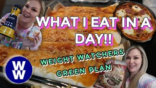 WHAT I EAT IN A DAY ON WW | GREEN PLAN | COOK WITH ME| BAILEY UPCHURCH