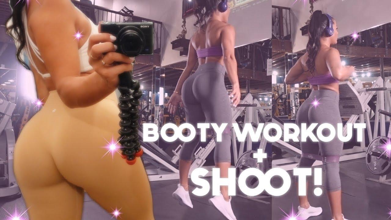 BOOTY WORKOUT + SHOOT | Katya Elise Henry
