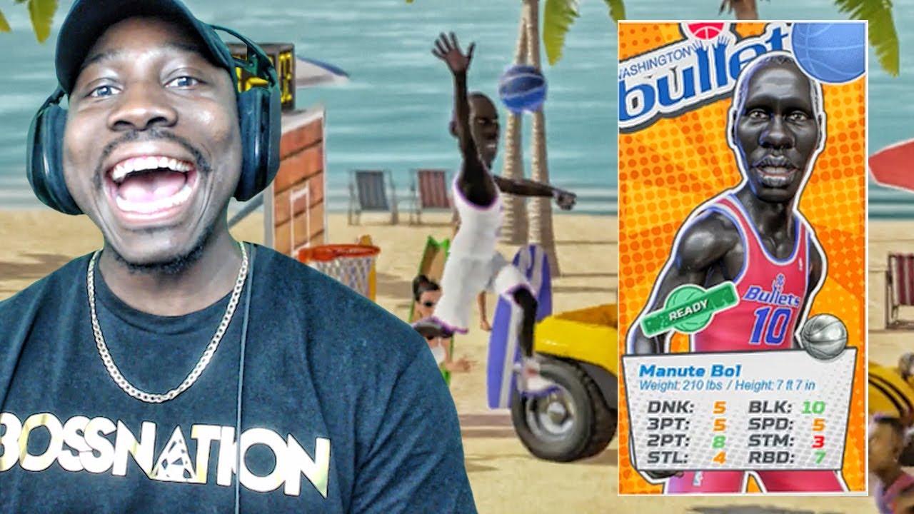 "7 7"" TALL MANUTE BOL BLOCKING EVERYTHING NBA Playgrounds Gameplay"